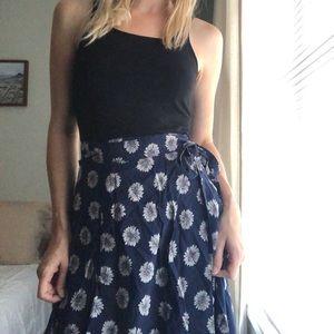 90's long sunflower skirt